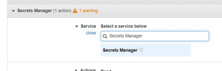 Search for SecretManager service
