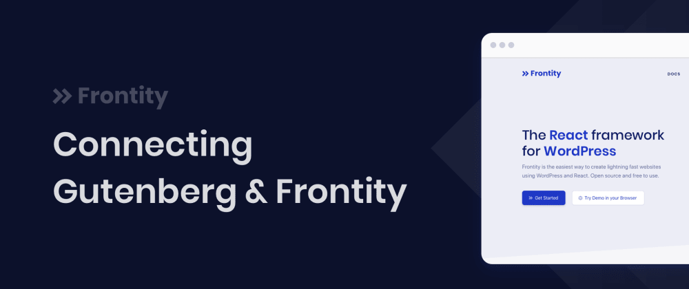 Cover image for Connecting Gutenberg and Frontity
