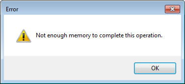 Out of memory