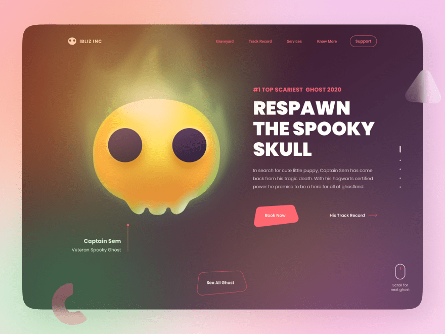 candy skull frontend interface
