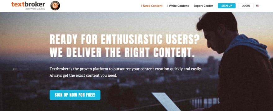 Textbroker website