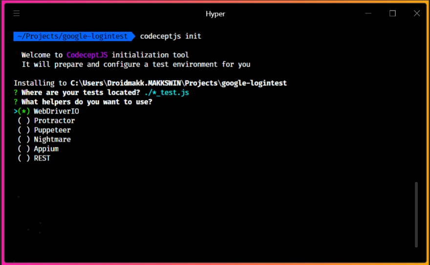 CodeceptJS: Testing made real fun 😎 - DEV Community