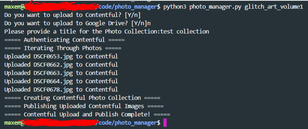 Cover image for Automating Contentful Photo Publishing with Python