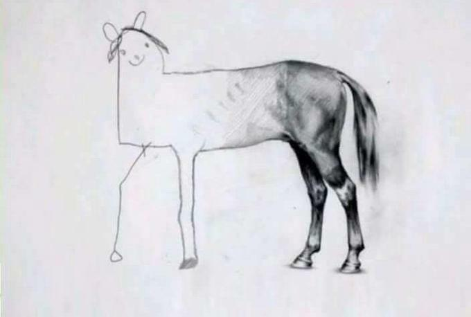 Unfinished Horse Drawing by Ali Bati