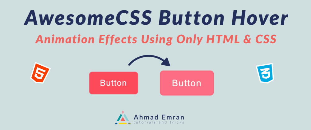 Cover image for Awesome CSS Button Hover | Animation Effects | Using Only HTML & CSS