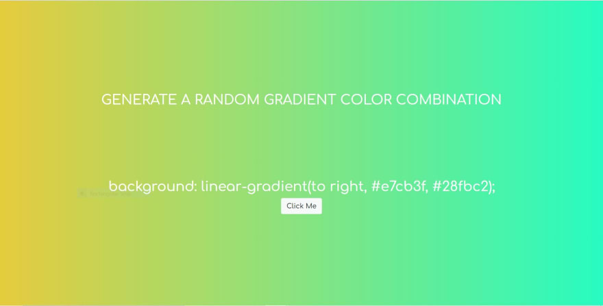 Hex colors gradient