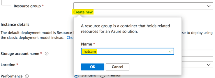 Creating a new resource group