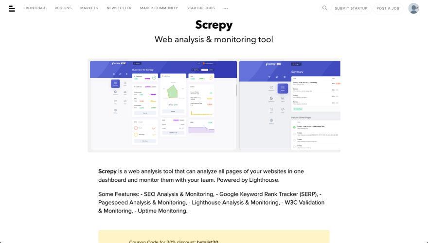 Screpy Betalist