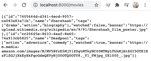 Express JSON result Notion API