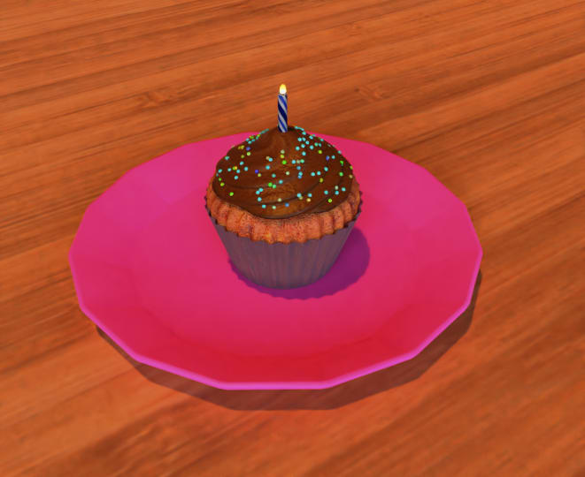 cupcake made in Blender