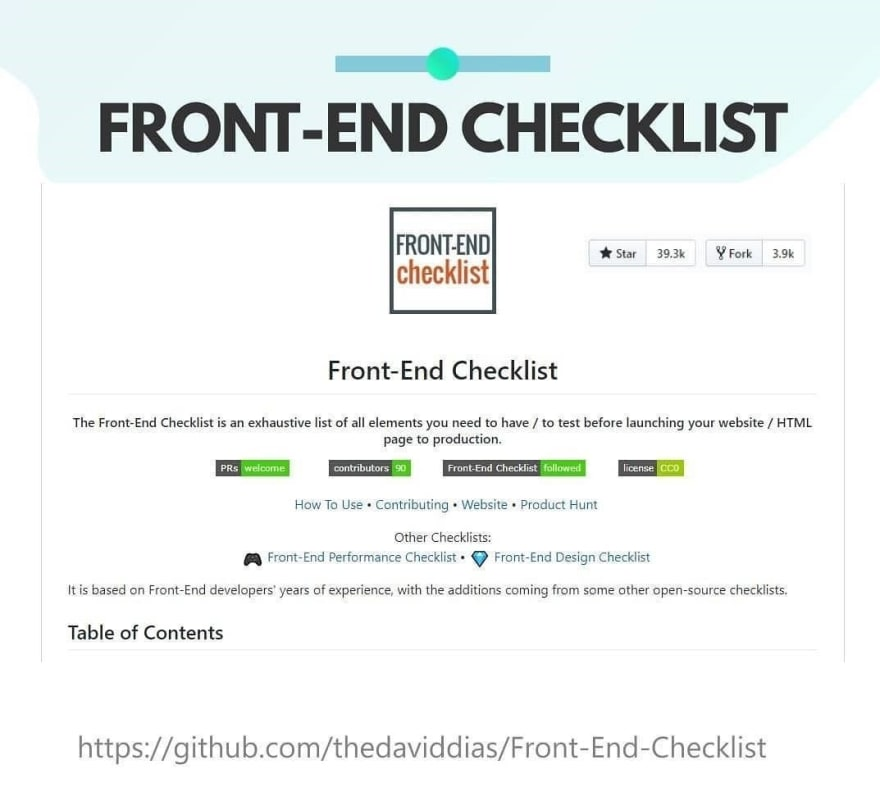 Front End Checklist Cover