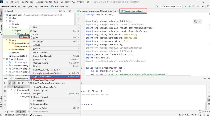 WebDriver is registered