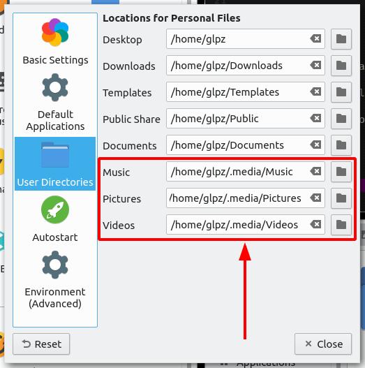 New settings por personal directories