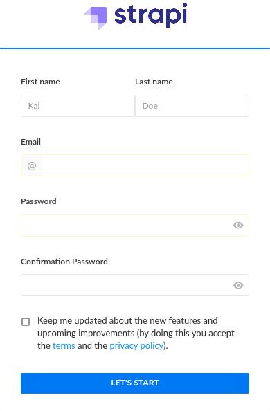 Register Adminstration Account