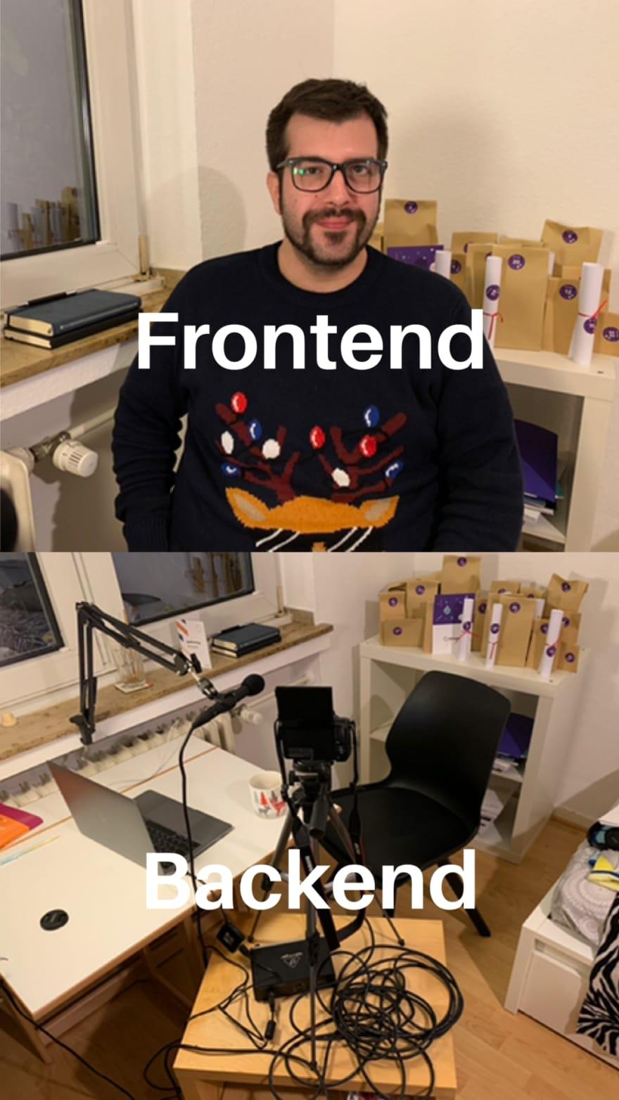 frontend backend bakebird