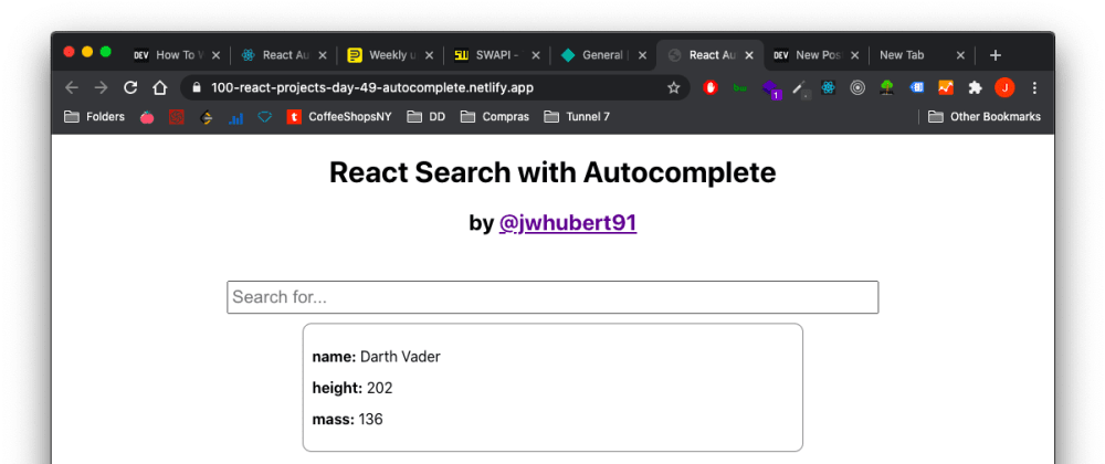 Cover image for Project 49 of 100 - Search with Autocomplete