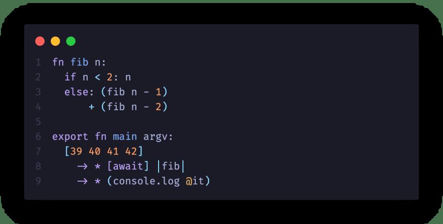 Fib function written in Clio
