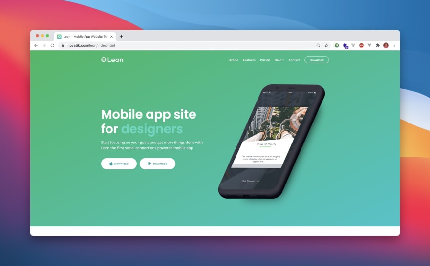 Leon HTML Template