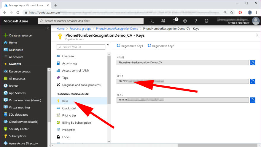 image showing Creating Resource Group in Azure Portal