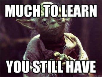 Yoda much to learn