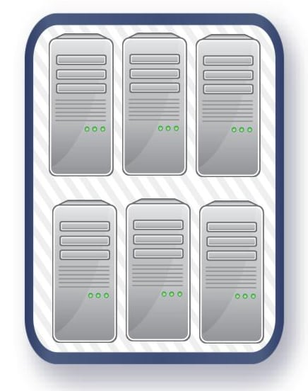 Shared vs VPS Hosting - Diagram of Virtual Machines deployed on a Server