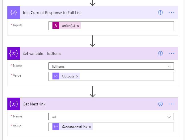 Complete Loop by Saving List Items