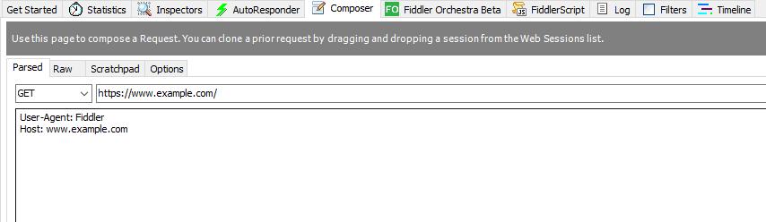 Composer in Fiddler Classic