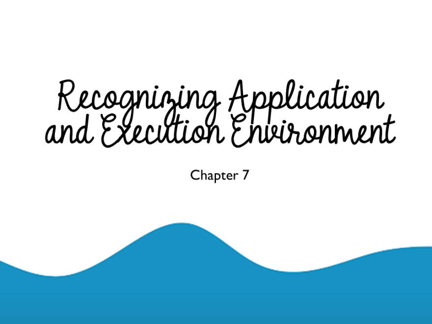 Recognizing Application and Execution Environment