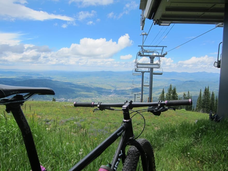 bike on top of a mountain