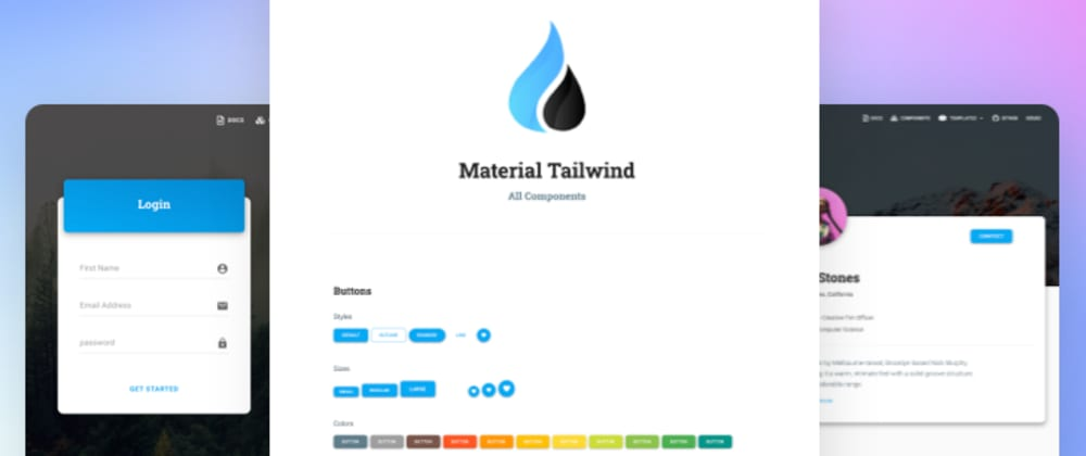 Cover image for Material Tailwind – New Framework for Web Developers