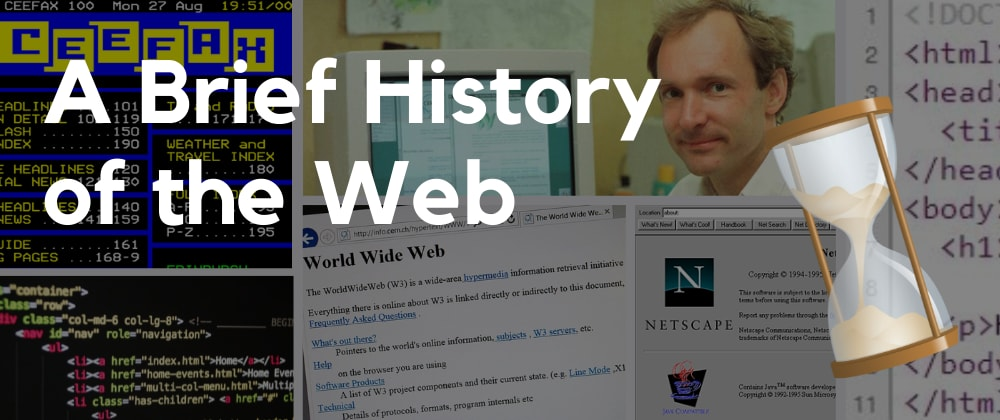 Cover image for A Brief History of the Web