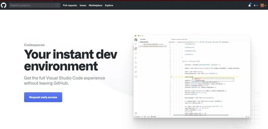 Visual Studio integrado en Github: Codespaces, nuevo editor beta integrado en tus repositorios