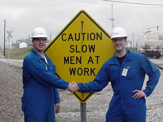 Caution slow
