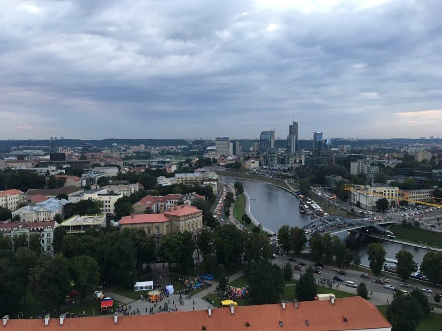 Vilnius city view
