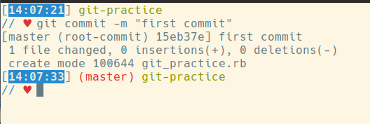 git commit -m 'first commit'