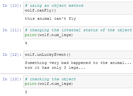 using an object's method