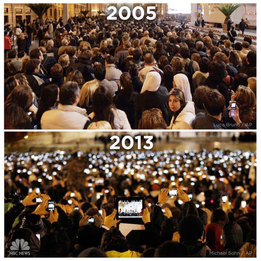 Exemplo de como o mundo muda rápido, e que algumas coisas vão perdendo o sentido com o decorrer do tempo