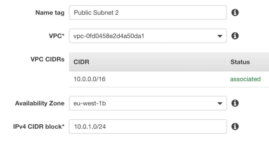 Create Public Subnet 1