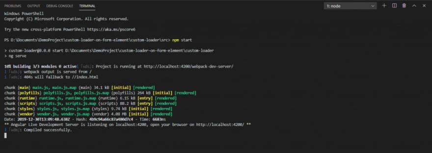 Angular 8 Project Creation Process