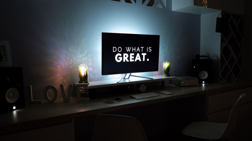 computer screen that says do what is great
