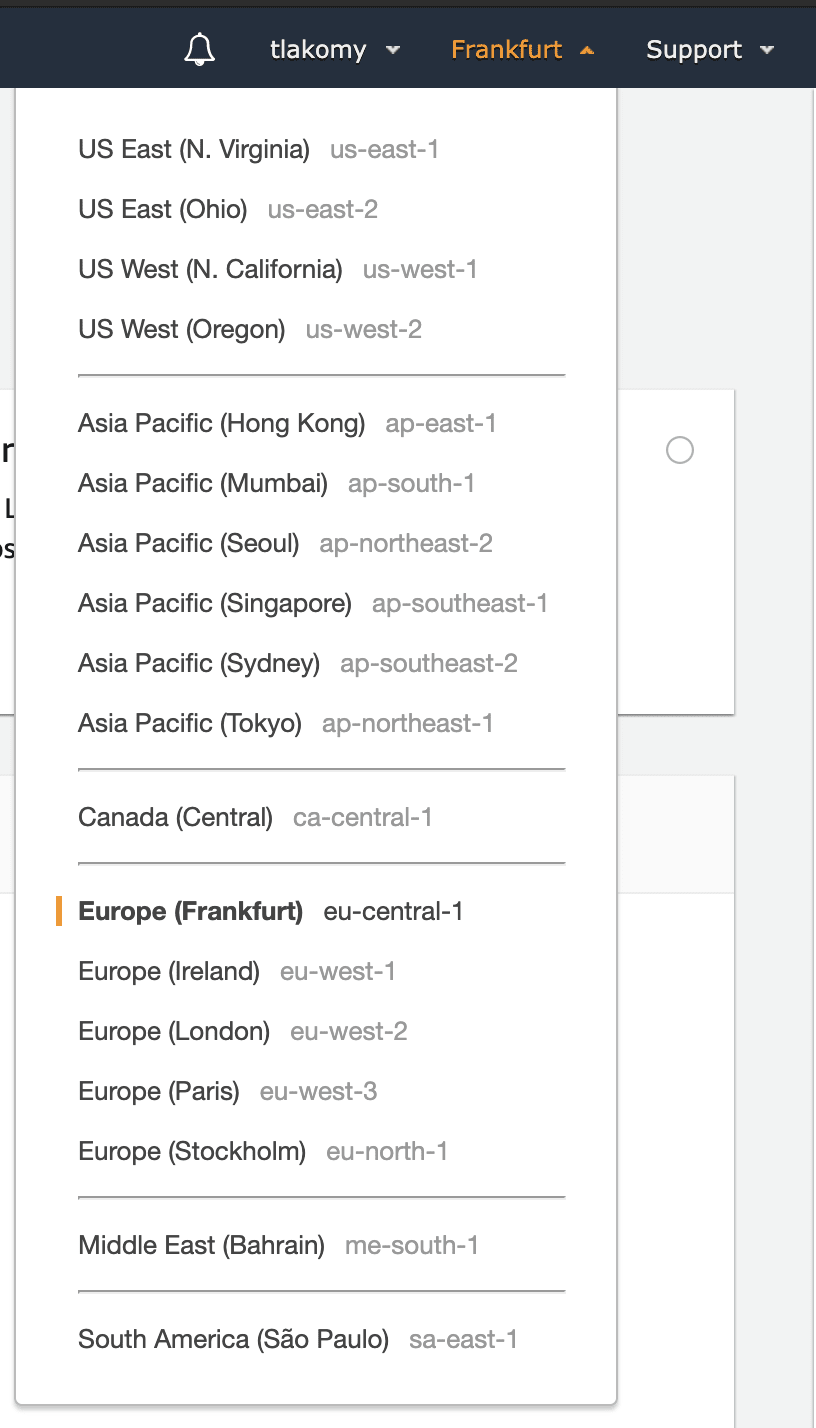 Available AWS Regions