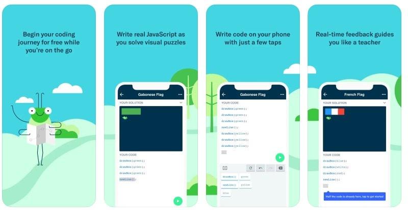React Native apps: Grasshopper app screenshots