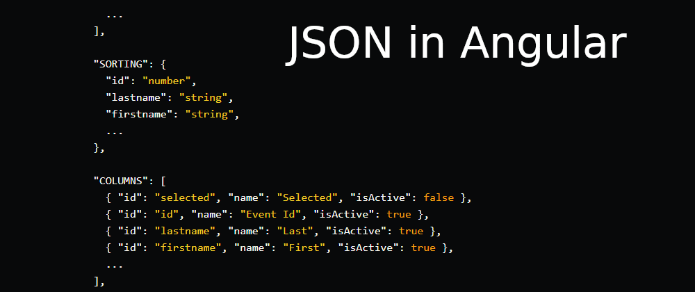Cover image for Using JSON in Angular