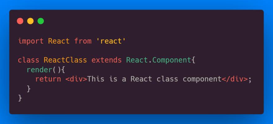 React Class Component