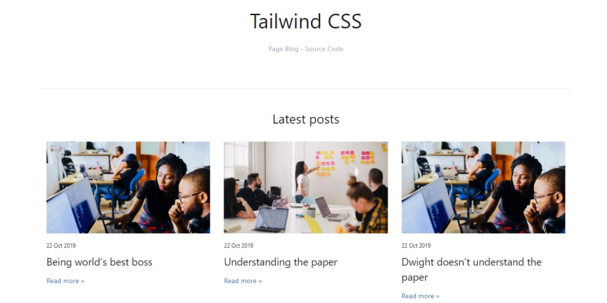 Tailwind CSS Components - Blog Posts.
