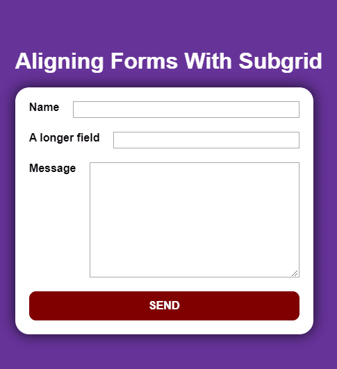 Form With Uneven Inputs