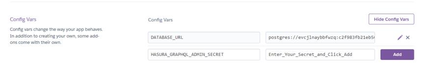 New admin secret added to heroku