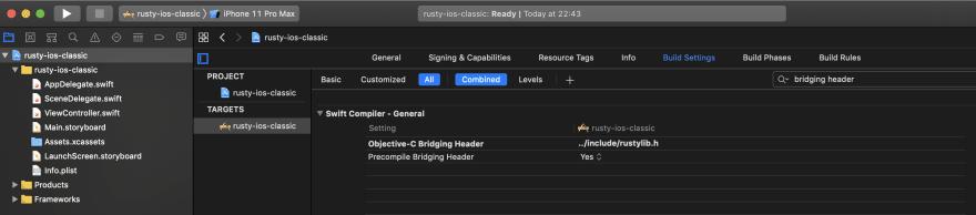 Add Objective-C bridging header