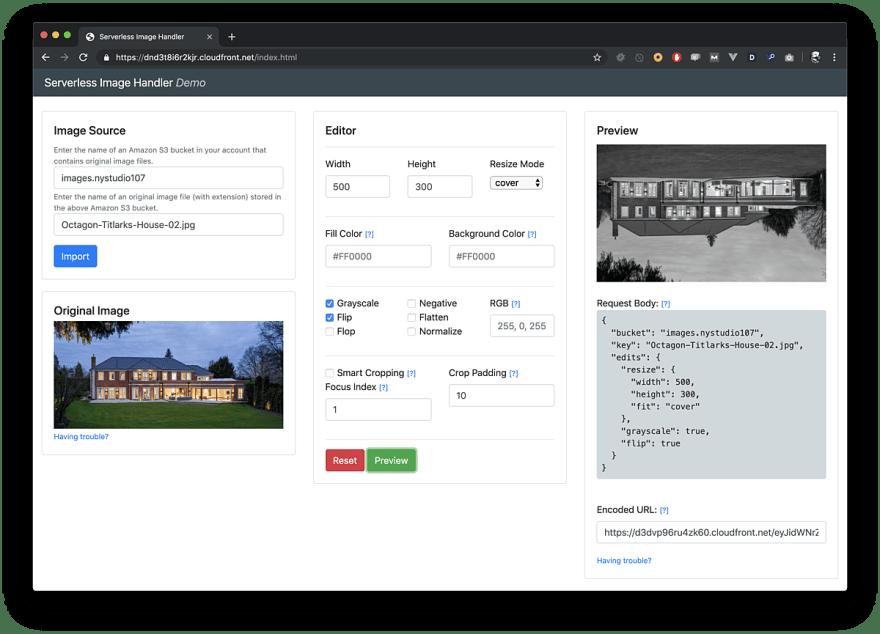 Serverless image handler demo