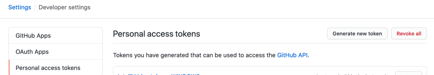 Adding GitHub token